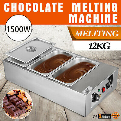 12kg Electric Chocolate Tempering Machine Melter Maker W//5 Melting Pot Dining
