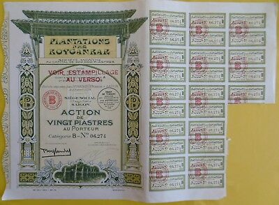 Plantations des BOYGANBAR Saigon 1929 cochinchine Indochine Asie bond Indochina