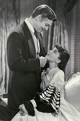 Clark Gable and Vivien Leigh in Gone With The Wind, Film Movie - MODERN Postcard