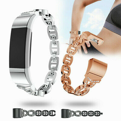 For Fitbit Charge 2 Stainless Steel Crystal Smart Watch Band Wristband Strap UK