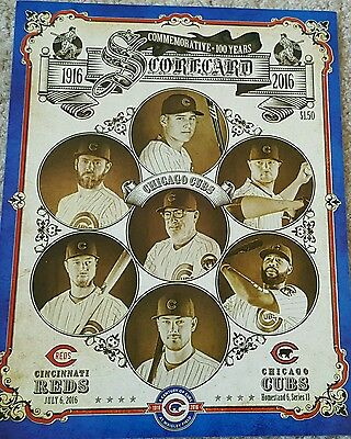 Chicago Cubs Commemorative 100 years at Wrigley Field Scorecard John Lackey