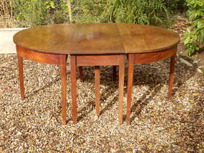 Dining table 'D' end. Victorian. Three sections. Antique. Mahogany. Very solid.