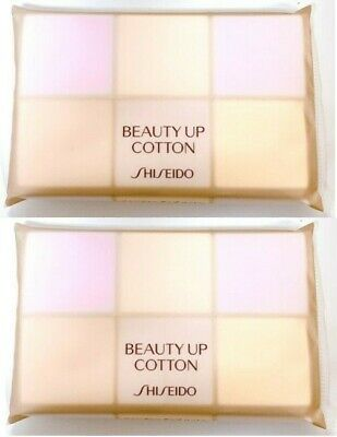 2SET Shiseido Beauty up cotton 8sheets natural cotton trial travel Made in Japan
