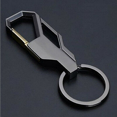 Top  Mens Creative Alloy*Metal Keyfob Gift Car Keyring Keychain Key ChainRing#
