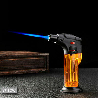 Windproof Refillable Lighter Butane Inflatable Torch Fuel Jet Flame Outdoors Hot