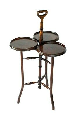 Antique Inlaid Mahogany Cake Stand - FREE Shipping [PL5075]