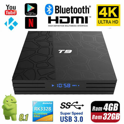 T9 4GB+32GB Android 8.1 Smart TV Box 4K Smart HD Media Player WI-FI Bluetooth