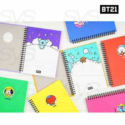 BTS BT21 Official Authentic Goods Bbakkom Note 150 x 220mm By Kumhong Fancy