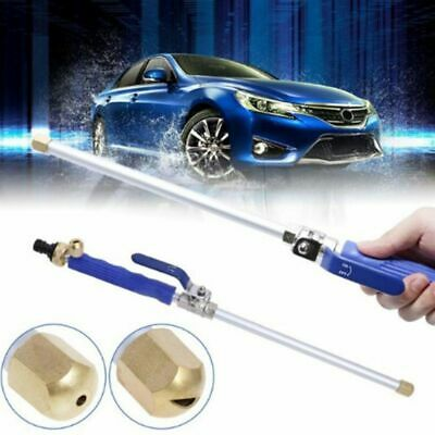 High Pressure Power Water Spray Nozzle Water Hose Wand Washer Wand w Jet&Fan Tip