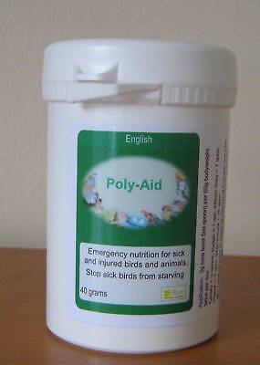 POLY-AID 40g - FOR SICK / INJURED BIRDS - Poly Aid -Birdcare Co.