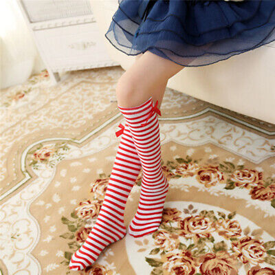 Baby Children Girls Toddler Bow Socks Soft Knee High Tights Leg Lovely B