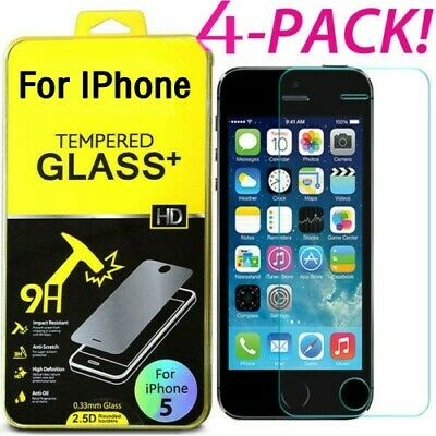 Premium Screen Protector Tempered Glass For iPhone 11 5 6 7 8 Plus X Xs Max 1-4X