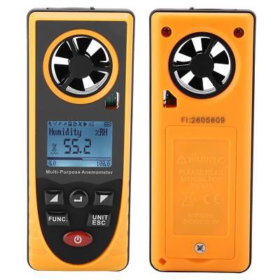 GM8910 Digital Anemometer Air Flow Wind Speed Gauge Meter Altitude Measuring HC3