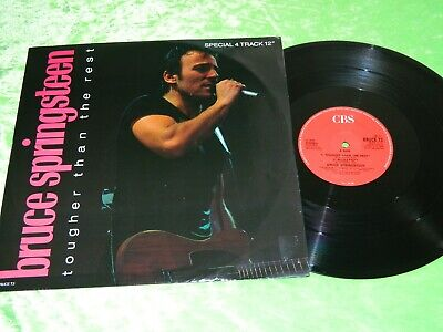 """BRUCE SPRINGSTEEN : Tougher than the rest - Orig UK 4 track 12"""" single EX/NM 196"""