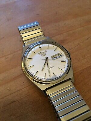 Seiko 5 Automatic Vintage Men's Watch-36mm-Day & Date Function-Working Order