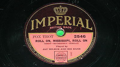 JAY WILBUR Roll on, Mississipi / BUDDY BLUE Whistling in the dark - UK 78rpm 180