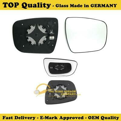Driver side Clip Heated Wide angle wing mirror glass for Nissan Juke 14-16