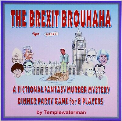 HOST A BREXIT FICTIONAL FANTASY MURDER MYSTERY DINNER PARTY GAME - for 8 players