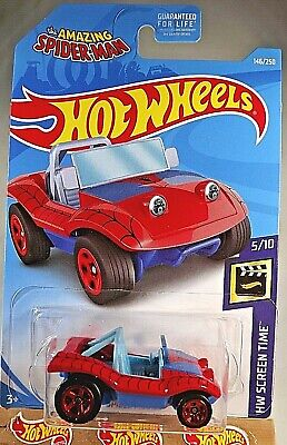 2019 Hot Wheels #146 HW Screen Time-Amazing Spider-Man 5/10 SPIDER MOBILE Red