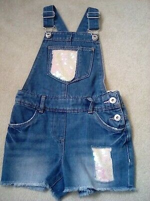 Girls Denim with Sequins, Shorts Dungarees 4 yrs