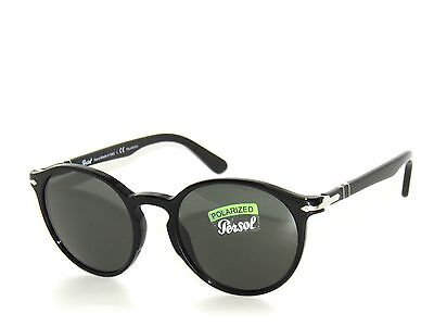 e5b9ba7a9aaf4 PERSOL 3171S BLACK  Green Crystal Polarized 95 58 Sunglasses 3171 ...