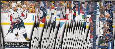 2017-18 Upper Deck STANLEY CUP CHAMPIONS Washington Capitals Team Set 1-30