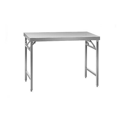 Folding Work Table Heavy Duty Stainless Steel Foldable Catering Table 4 Ft 120Kg