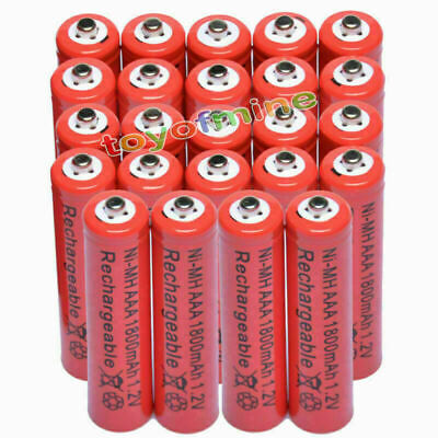 24x AAA battery batteries Bulk Nickel Hydride Rechargeable NI-MH 1800mAh 1.2V SS