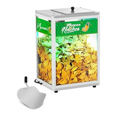 Nacho Warmer Popcorn Or Nachos Display Cabinet Rgb Led Lights 100 W Snack Warmer