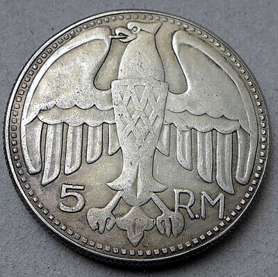Free Coins! 1935 Hitler / Germany 5 Reichsmark Exonumia Coin. #5