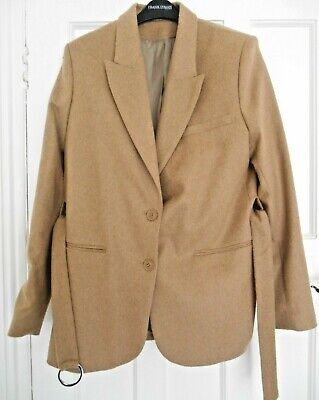 29b5ce47bd6 BRAND NEW - Other Stories Camel Khaki Light Brown Wool Belted Coat ...