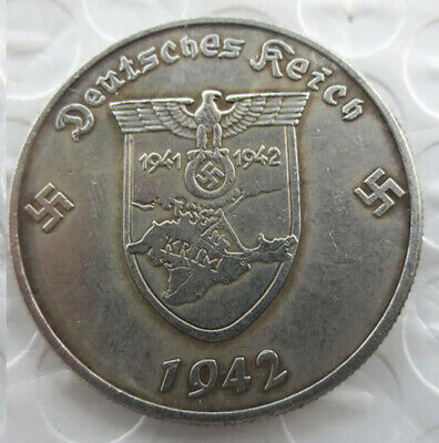 Free Coins! 1942 Hitler / Germany 5 Reichsmark Exonumia Coin #7