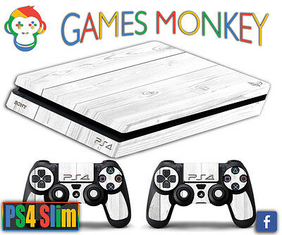 Skin Ps4 Slim Faceplates, Decals & Stickers Video Games & Consoles Wooden Wood Design Limited Edition Decals Cover Gamesmonkey