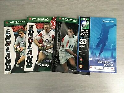 4 X ENGLAND Rugby Union Programmes 2005-2007