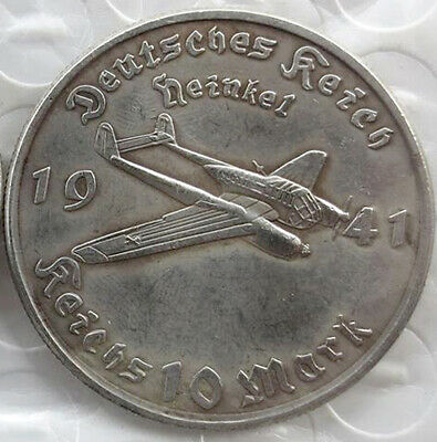 Free Coins! 1941 Hitler / Germany 10 Reichsmark Exonumia Coin #16
