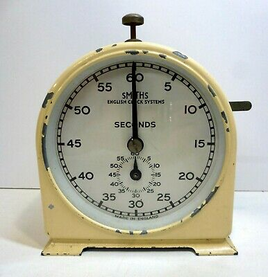 Vintage Smiths English Clock Systems Stop Clock Seconds and Minutes Timer