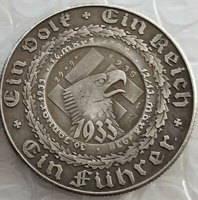 Free Coins! 1938 Hitler / Germany Exonumia Coin #17