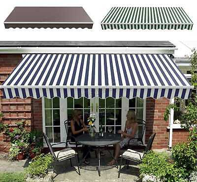 BIRCHTREE Retractable Awning Manual Aluminium Canopy Patio Sun Shade Shelter