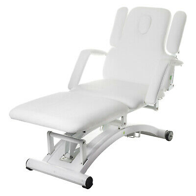 Electric Beauty Therapy Bed Massage Treatment Pedicure Chair White Tattoo Table