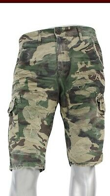 d91fe765bb17b0 JORDAN CRAIG WOODLAND Shredded Camo Shorts -  25.00