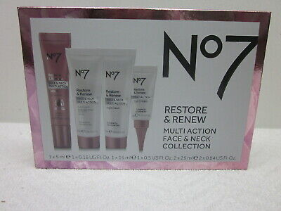NO7 RESTORE AND Renew Face & Neck Multi Action Serum 2 x