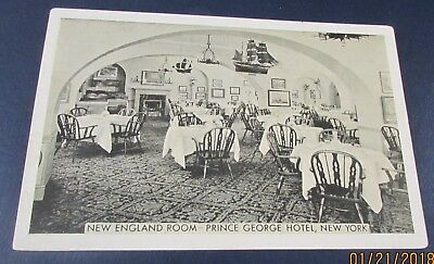 Old Postcard<NEW YORK CITY, NEW YORK>{PRINCE GEORGE HOTEL--DINING ROOM-1946}