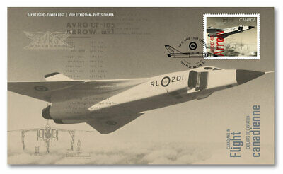 2019 Canada Canadians In Flight AVRO CF-100 Arrow First Day Cover FDC Aviation