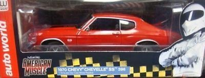 1:18 AUTOWORLD /ERTL 1970 CHEVY CHEVELLE SS 396  Red
