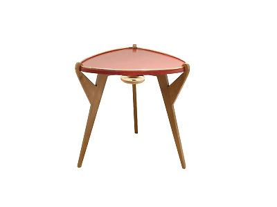French Design Reconstruction Tripod Side Table 1950 Guéridon Tripode Laqué Deco
