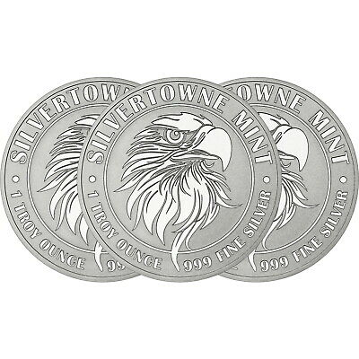 NEW! SilverTowne Mint Mighty Eagle 1oz .999 Silver Medallion 3pc
