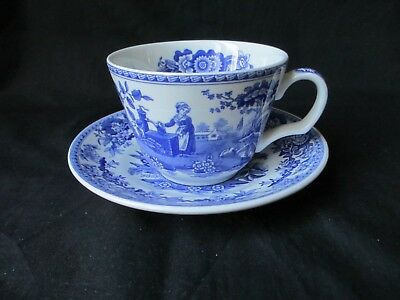 Spode blue room collection,girl at well pattern cup & saucer ,first quality,