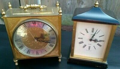 TWO Vintage clocks SMITHS Sectronic Mantel Clock and Bentima Spares or Repairs