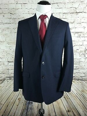 Brooks Brothers Explorer Two Button Sport Coat Size 42L Fitzgerald Blue Striped