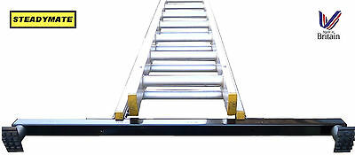 STEADYMATE Ladder Stabiliser Safety Device rubber feet 1metre wide FREE DELIVERY